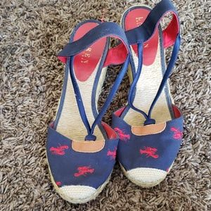 Ralph Lauren wedges size 8.5